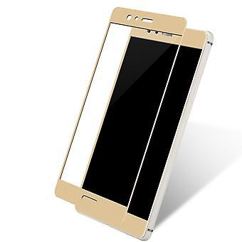 Huawei P10 além de folha de vidro blindado 3D Exibir H 9 película protetora capas caso ouro