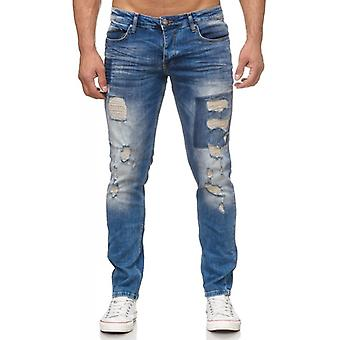 Tazzio fashion men's denim pants blue
