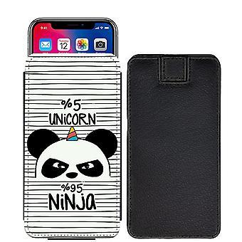 Berühmte Zitate 5 % Einhorn 95 % Ninja Custom entworfen gedruckt ziehen Tab Tasche Telefon Fall decken für Motorola Moto C Plus [S] - FQ05_web