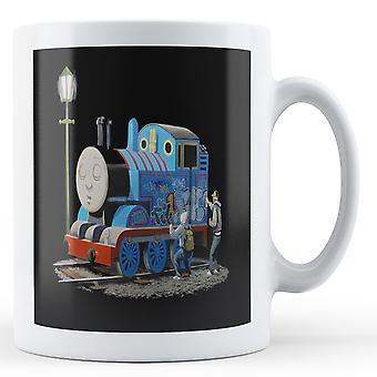 Banksy tryckt mugg - Thomas Tank Engine - BKM273