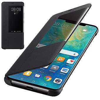 Genuine Huawei Mate 20 Pro Smart View Flip Cover Wallet with Sleep Wake Feature - Black - 51992696