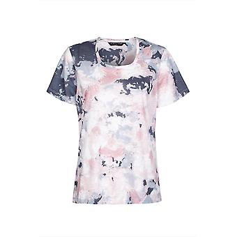 ABSTRACT ROSE PRINTED TOP