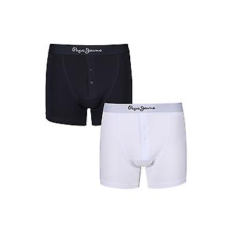 New Designer Mens Pepe Jeans Button Fly Boxer Trunk Shorts Peter Gift Set