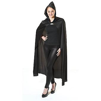 Bnov Long Black Hooded Cape