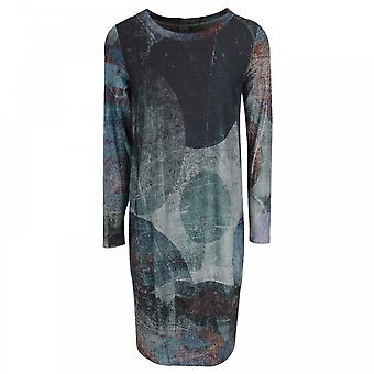 Crea Concept Long Sleeve Multi Print Jersey Dress