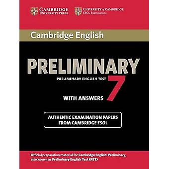 Cambridge English Preliminary 7 Students Book with Answers by Cambridge ESOL