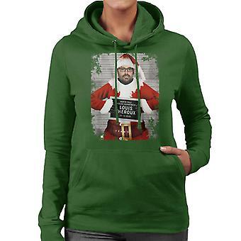 Christmas Mugshot Louis Theroux Women's Hooded Sweatshirt