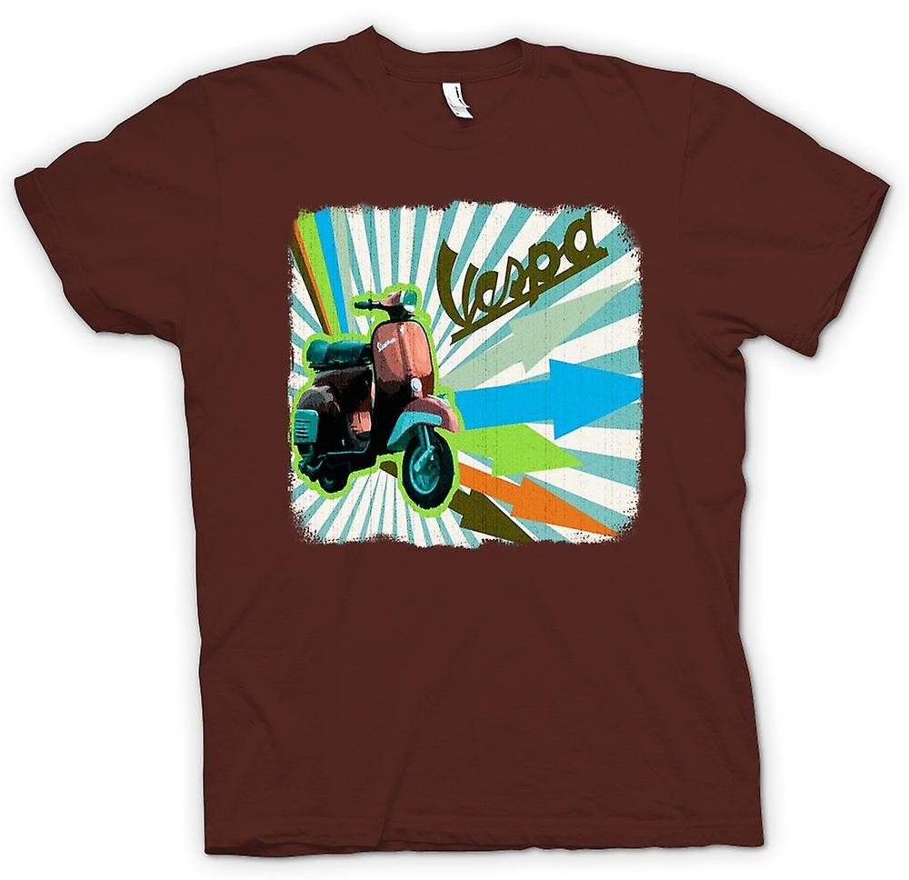 Mens T-shirt - Vespa Scooter - Arrows