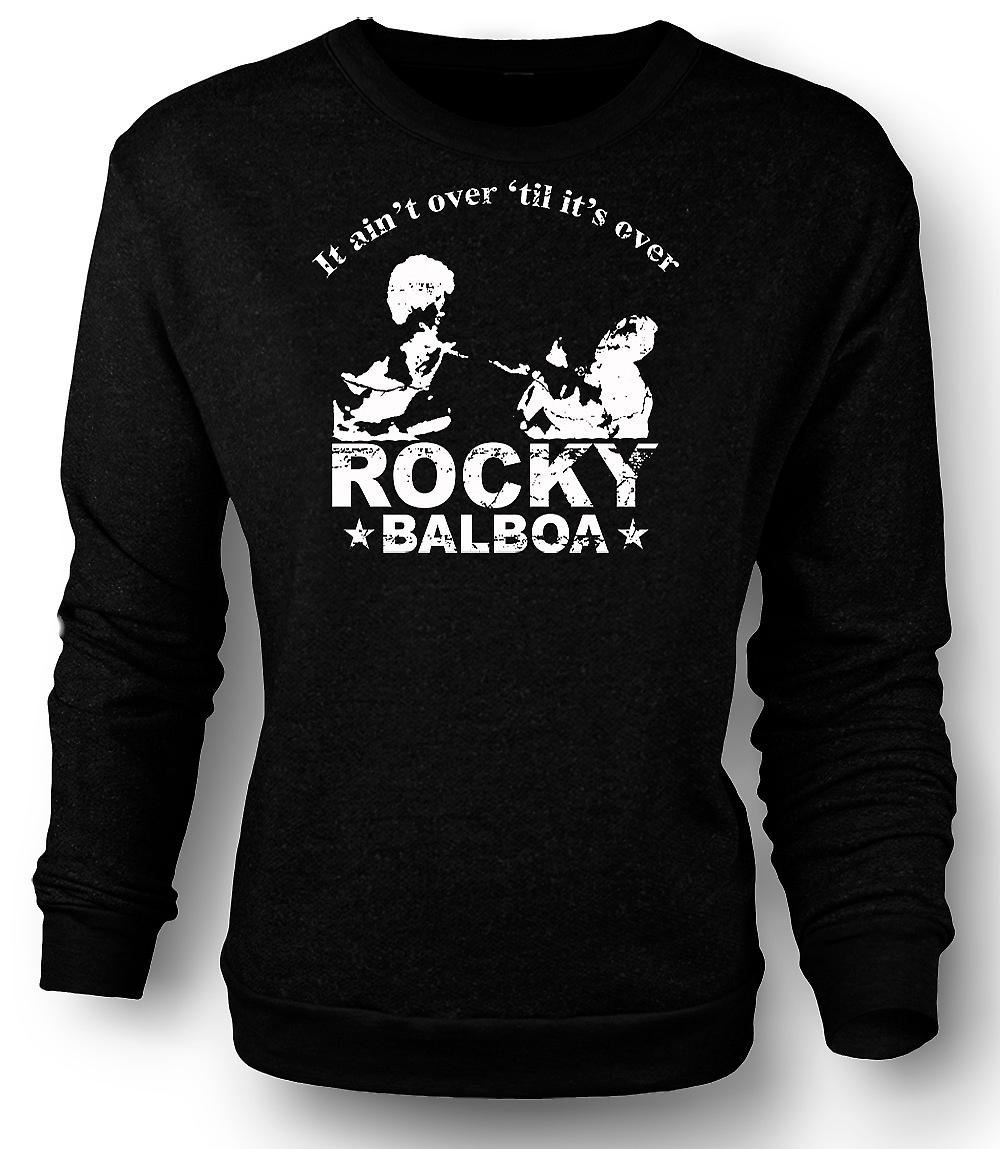 Mens Sweatshirt Rocky Balboa Aint Over - boksen - grappig