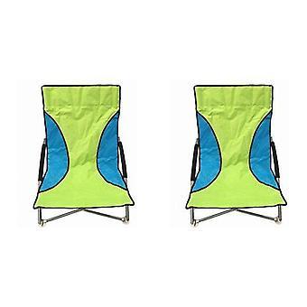 2 zielony Nalu składane krzesła z niskim siedzenia Beach