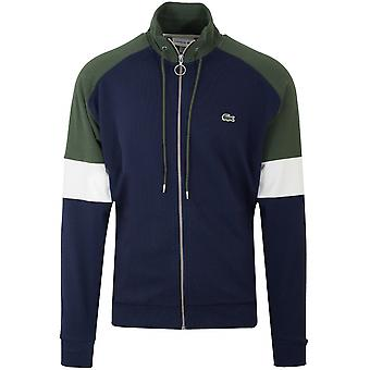 Lacoste Lacoste Navy & Khaki Pique Zip Sweatshirt