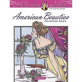 Haven créatrice américaine beautés Coloring Book (livres à colorier Haven créatif)