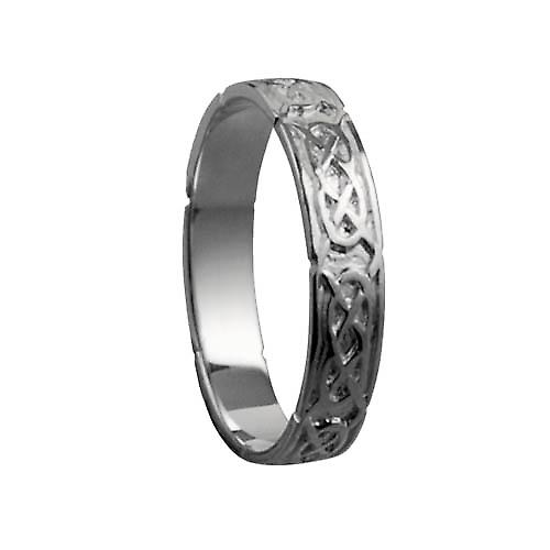 Platinum 4mm Celtic Wedding Ring