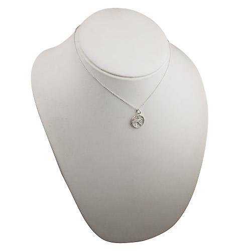 Silver 11mm pierced Sagittarius Zodiac Pendant with rolo chain