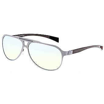 Breed Apollo Titanium and Carbon Fiber Polarized Sunglasses - Silver/Gold