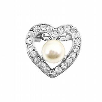 Valentine Heart Romantic Brooch Fully Embedded with Cubic Zircon