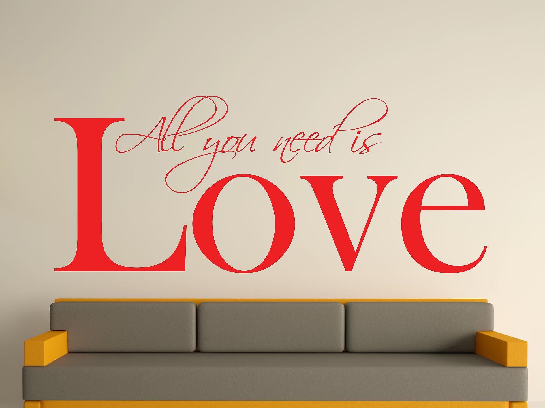 All You Need Wall Art Sticker - Tomato Red