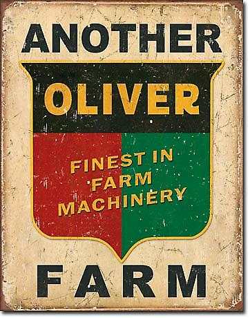 Another Oliver Farm Tractor Metal Sign  (de pt)