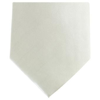 Knightsbridge halsdukar vanlig Polyester Tie - Off White