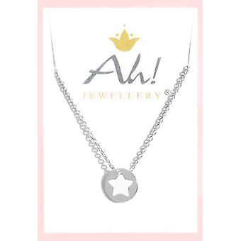 Open Star Layered Style Sterling Silver Pendant Necklace