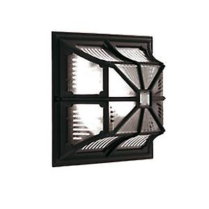 Elstead CP12 BLACK Chapel Traditional Outdoor Black Flush Ceiling or Wall Light