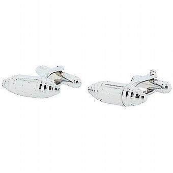 Jakob Strauss Silver Tone Base Metal Fancy Gents Cufflinks