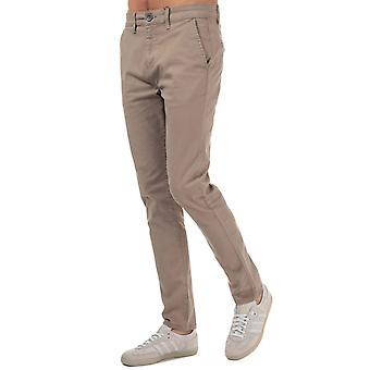 Mens Crosshatch Black Label Kelso Chino Pant In Stone