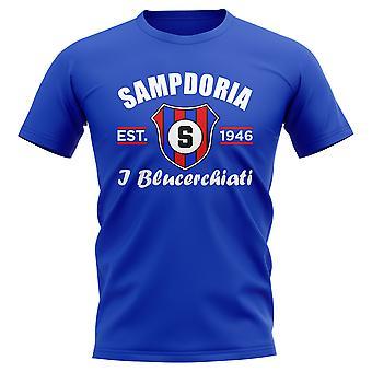Sampdoria Established Football T-Shirt (Blue)