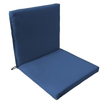 Gardenista® blu resistente all'acqua due parti sedia sedile Pad, confezione da 2