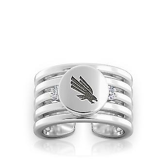 University of North Texas - mittlere senkgrüne Logo graviert Multiband Manschette Ring
