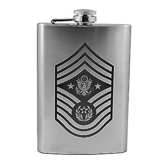 8oz air force rank - chief master sergeant of the air force - flask l1