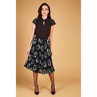 Louche Kamea Floral Pleated Skirt