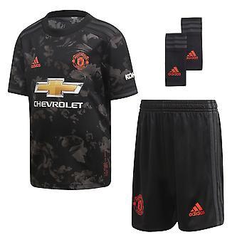 Adidas Manchester United 2019/20 Kids Junior mini tredje fodbold sæt sort