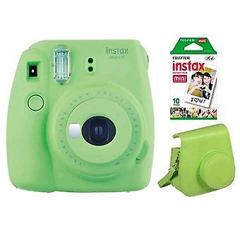 Fujifilm instax mini 9 kit 10 prints + green bag