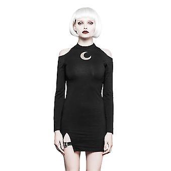 Punk rave - luna queen - women's cold shoulder dress