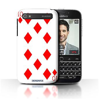 STUFF4 Case/Cover for Blackberry Classic/Q20/10 of Diamonds/Playing Cards