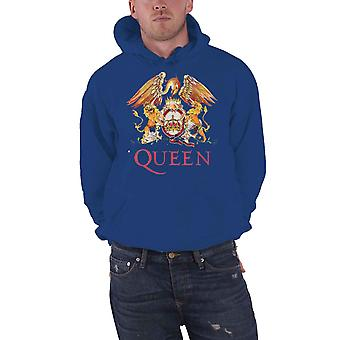 Queen Hoodie Classic Crest Band Logo new Official Mens Pullover