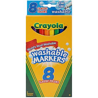 Crayola Fine Line Washable Markers Classic Colors 8 Pkg 58 7809