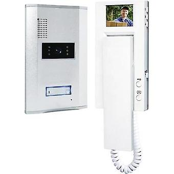Video door intercom Corded Complete kit Smartwares VD61 SW Detached Silver, White