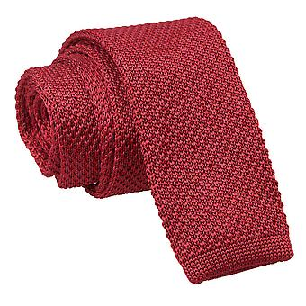 Men's Knitted Burgundy Tie
