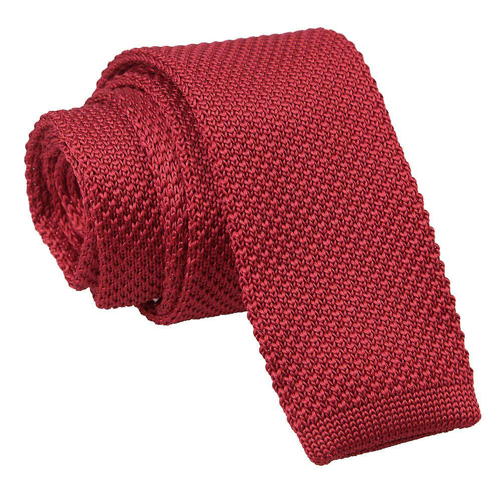 Knitted Burgundy Tie