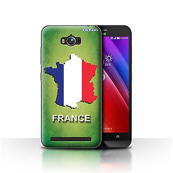 STUFF4 Case/Cover for Asus Zenfone Max ZC550KL/France/French/Flag Nations