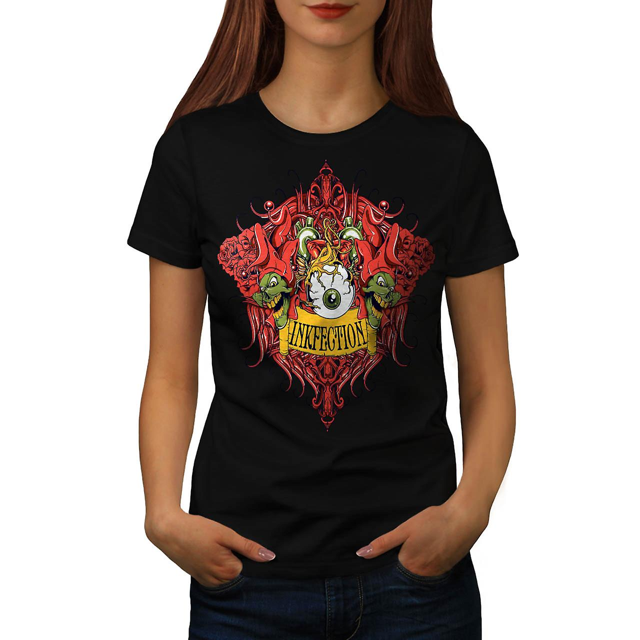 Tinte-Infektion Tattoo Grinch Auge Frauen T-shirt schwarz | Wellcoda