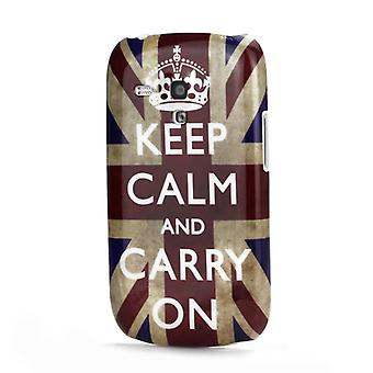 Keep calm flag plastic cover PC to Galaxy S3 mini i8190