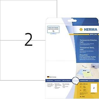 Herma 4683 Labels (A4) 210 x 148 mm Polyester film Transparent 50 pc(s) Permanent All-purpose labels, Weatherproof label