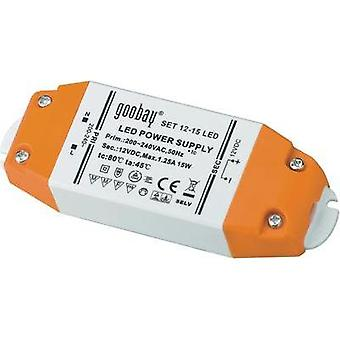 LED transformer Constant voltage Goobay SET 12-15 LED 15 W (max)