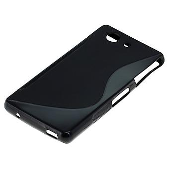 OTB TPU case compatible with Sony Xperia Z3 compact S-curve black