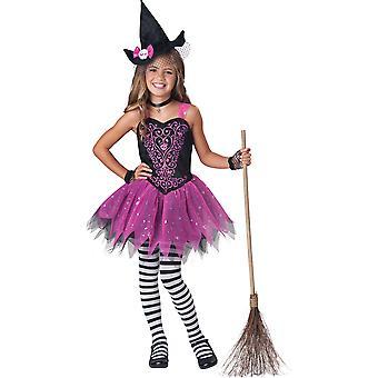 Förhäxad häxa onda trollkarlar häxa barn flickor kostym