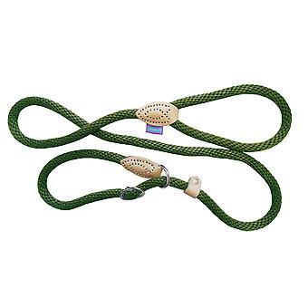 Hund & Co reb Slip bly grøn/tan 150cm