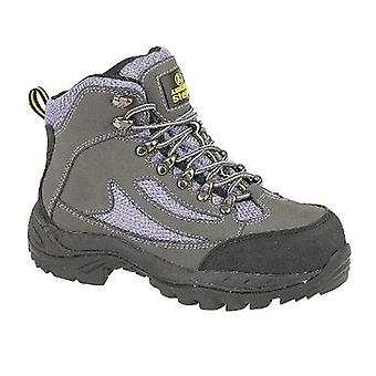 Amblers Steel FS91 Ladies Safety Boot Textile Leather Rubber Phylon Sole Lace Up